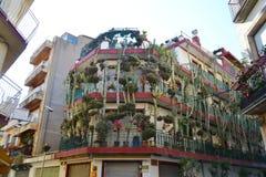 Street in Calella, Costa-Brava beach. Royalty Free Stock Images