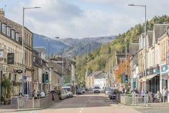 Street In Callander Stock Image