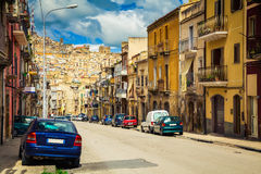 The street of Caltagirone Royalty Free Stock Photo