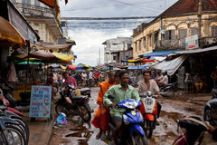Street in Cambodia Royalty Free Stock Images