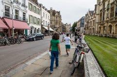 Street in Cambridge Royalty Free Stock Photos