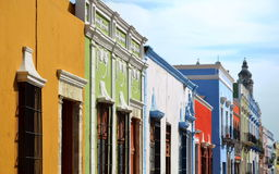 Street in Campeche City Mexico royalty free stock photo