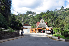 Street in Campo do Jordao City, Sao Paulo, Brazil Stock Photo