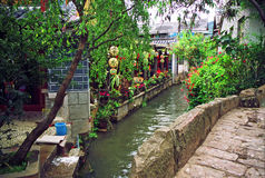 Street and canal in lijiang, china Stock Image