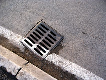 Street and canalisation Royalty Free Stock Images