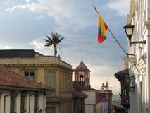 Street of the Candelaria. Street of the Candelaria neighborhood, in Bogota, Colombia Stock Image