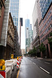 Street canyon in Frankfurt, Germany Stock Photos