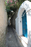 Street in Capri, Italy Royalty Free Stock Photos