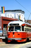 Street Car – San Francisco. This image was shot in San Francisco and show's a vintage street car in the Castro area. The image was shot with  a Nikon F5 and Royalty Free Stock Images