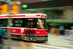Street Car. In a busy Urban setting Royalty Free Stock Photo