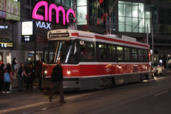 Street Car at Dundas Square, Toronto Royalty Free Stock Photography
