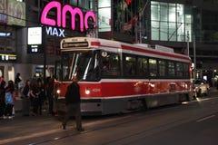 Street Car at Dundas Square, Toronto Royalty Free Stock Photography