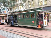 Street Car on Hyde Street in San Francisco stock photography