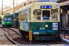 Street car in Nagasaki royalty free stock photo