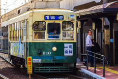 Street car in Nagasaki Stock Photos