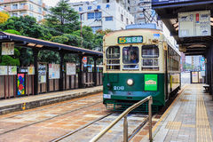 Street car in Nagasaki Royalty Free Stock Images
