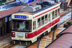 Street car in Nagasaki Royalty Free Stock Photos