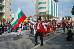 Street carnival - Bulgarian traditional costumes Stock Images