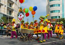 Street carnival  clowns Royalty Free Stock Photo