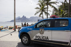 Street carnival in Rio has enhanced policing to prevent fights and thefts Royalty Free Stock Photography