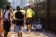 Street carnival in Rio has enhanced policing to prevent fights and thefts Royalty Free Stock Images