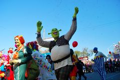 Street carnival - Shrek Royalty Free Stock Photos