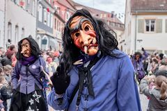 Street carnival in southern Germany - Black Forest royalty free stock photography