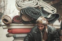 Street carpet merchant Royalty Free Stock Photo