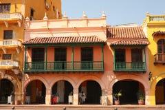 Street of Cartagena de Indias, Colombia Stock Photos