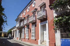 Street of Cartagena de Indias Royalty Free Stock Photo