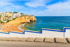 Street in Carvoeiro fishing village Royalty Free Stock Image