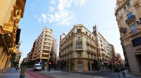 Street in Castellon de la Plan Stock Image