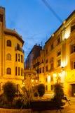 Street of Castellon de la Plana in evening Royalty Free Stock Images