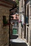 Street in Castelmezzano Italy Stock Photos