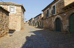 A Street of Castrillo de los Polvazares Stock Image
