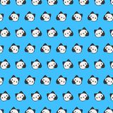 Street cat - emoji pattern 28. Pattern of a emoji street cat that can be used as a background, texture, prints or something else vector illustration