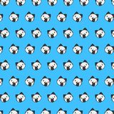 Street cat - emoji pattern 23. Pattern of a emoji street cat that can be used as a background, texture, prints or something else royalty free illustration