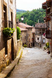 Street of catalan town in Pyrenees Royalty Free Stock Image