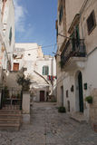 Street in Caveoso Sassi in Matera Stock Photography