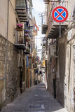 Street in Cefalu - Sicily Stock Photos