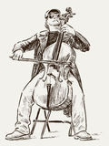 Street cellist Royalty Free Stock Images