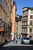 Street in cental part of Stockholm. Stock Photo