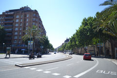 Street in center of Barcelona Stock Photo
