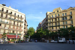 Street in center of Barcelona Royalty Free Stock Photos