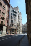 Street in center of Barcelona Stock Images