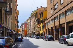 Street in a center of Bologna Stock Images