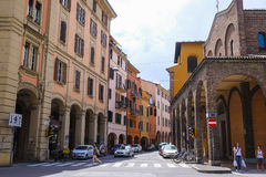 street in a center of Bologna Royalty Free Stock Images