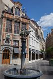 Street in center of Brussels, Belgium Stock Photography
