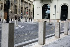 Street in the center of Budapest Hungary. Old street in the center of Budapest Hungary Royalty Free Stock Photography