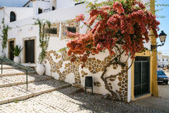 Street in center of Estoi town Royalty Free Stock Images